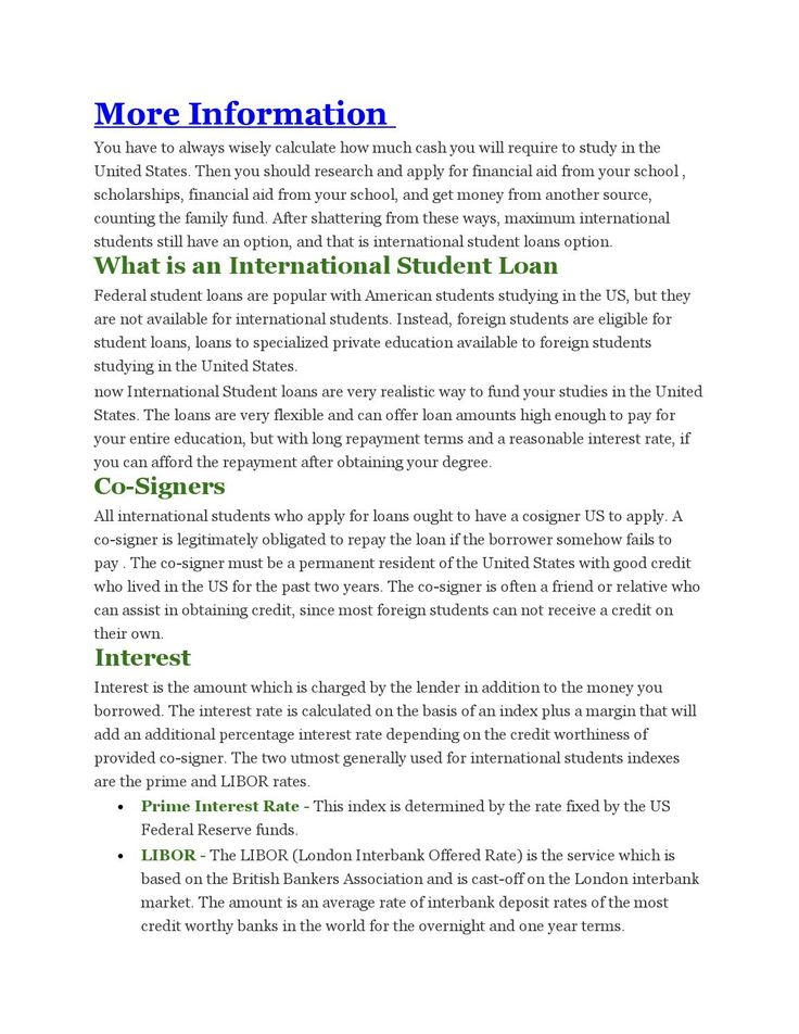 International student loans for usa  http://www.charitiestodonate.com/international-student-loans-for-usa/