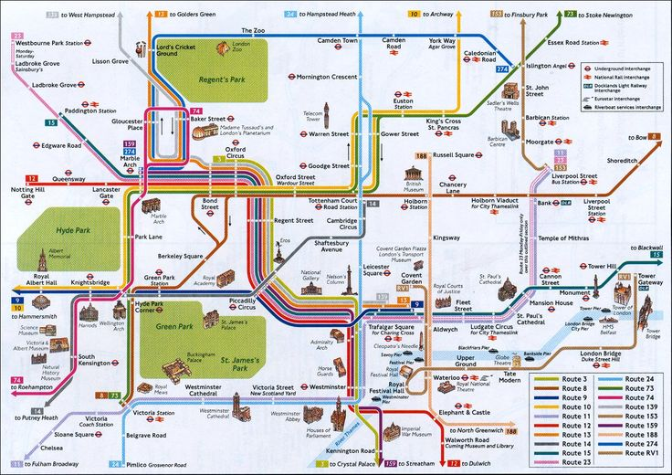 Map Of London Attractions | London Tourist Map See map details From england-hotel-reservations.net