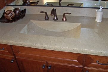 Best Concrete Sink Images On Pinterest Concrete Sink Bathroom - Integrated sink countertop bathroom