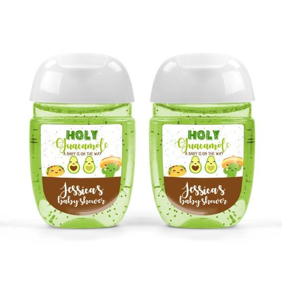 Holy Guacamole Baby Shower Hand Sanitizer Labels In 2020 Hand