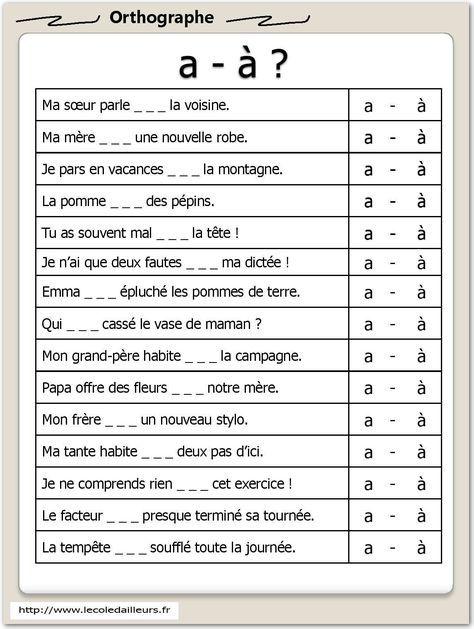 Fichier d'autonomie en orthographe - L'école d'Ailleurs