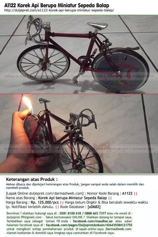 A1122 Korek Api Berupa Miniatur Sepeda Balap