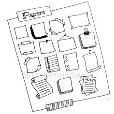 #TheRevisionGuide_StudyTips frames (or borders) are an important part of sketchnotes.. here's some more paper type borders that you can add to your notes... . . .
