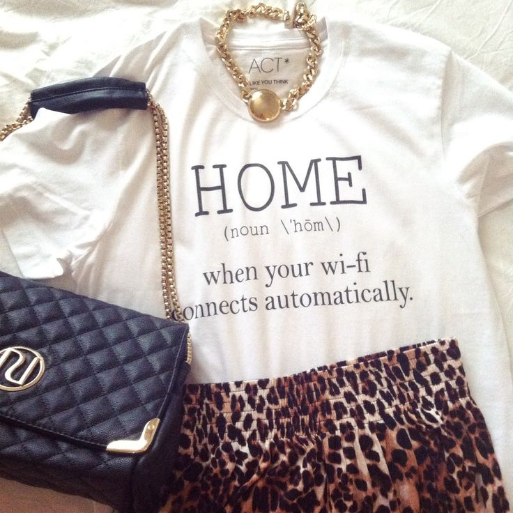 Outfit with HOME tee