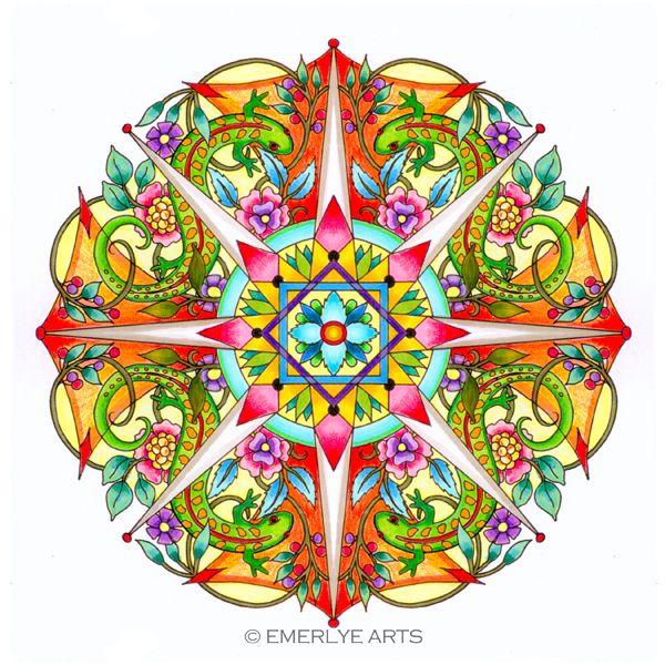 Cynthia Emerlye Vermont Artist And Life Coach Salamander Mandala