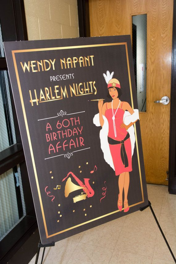 Harlem Nights Welcome Sign 24 x  36  DIGITAL by SocialImagesInc