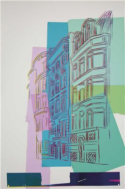 ANDY WARHOL (1928-1987) Viewpoint silkscreen inks and colored paper collage on board 60 x 40¼ in. (152.4 x 102.2 cm.) Executed in 1984.