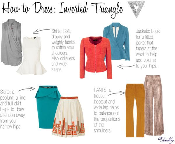 Dressing Inverted Triangle, created by elisashely on Polyvore