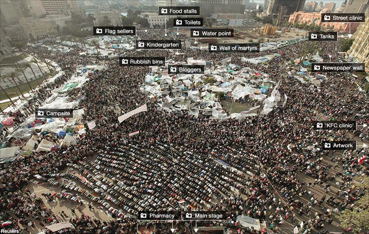 Large clickable map of Tahrir square during the peak of the 18 day revolution. Fascinating to see what a revolution looks like on the ground. Yolande Knell, BBC.