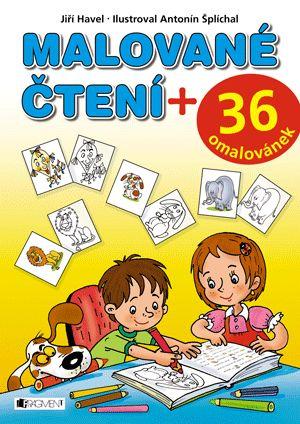Malované čtení + 36 omalovánek | www.fragment.cz