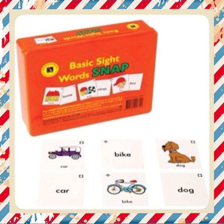 Sight Words Snap!  Have fun with your children while they learn sight words! $25+ postage and handling