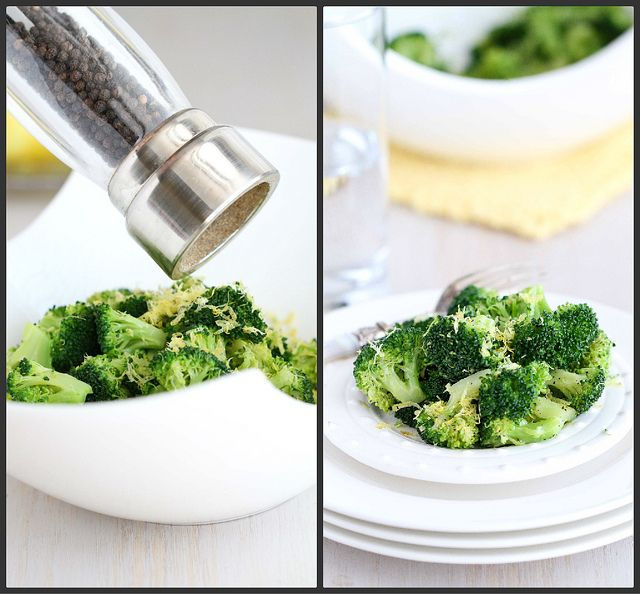 So easy but oh so good! Lemon Pepper Steamed Broccoli Recipe by CookinCanuck
