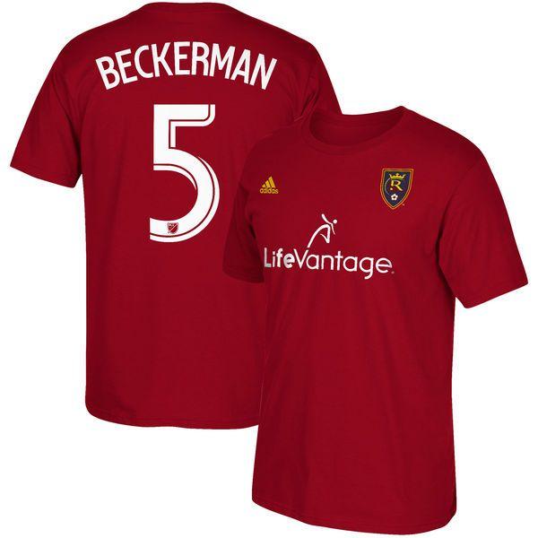 Kyle Beckerman Real Salt Lake adidas 2017 Player Name & Number T-Shirt - Red - $27.99
