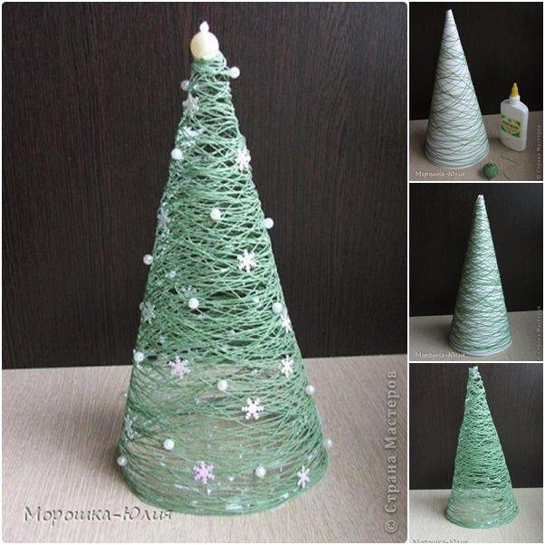 How to DIY Easy Thread Roll Christmas Tree | www.FabArtDIY.com LIKE Us on Facebook ==> https://www.facebook.com/FabArtDIY