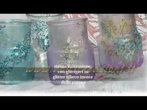 Tutorial decorazione vasetti di vetro con decoglass