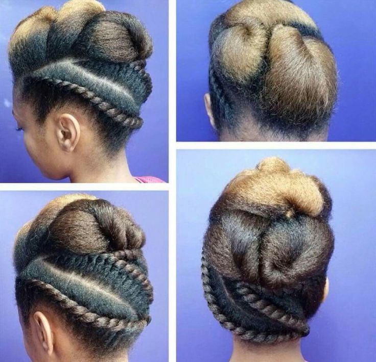 Updo hairstyles for natural hair