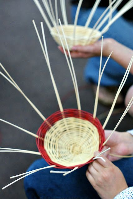 Dimples and Tangles: Third Grade Basket Weaving