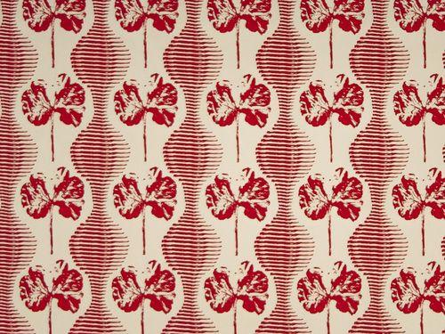 Geranium Weave - Hibiscus on Natural