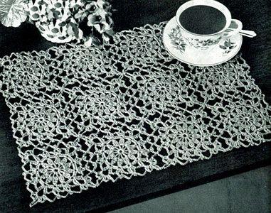 Motif Luncheon Set Pattern | Free Vintage Crochet Pattern
