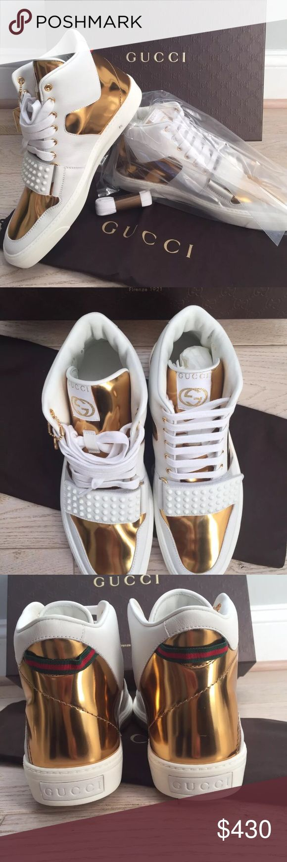 Authentic Gucci High Tops All sizes available, email me at luxuryxdeals@gmail.com if you're interested. Shoes