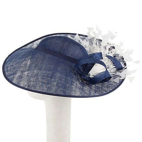 Buy John Lewis Vivien Side Up Disc Occasion Hat, Navy Online at johnlewis.com