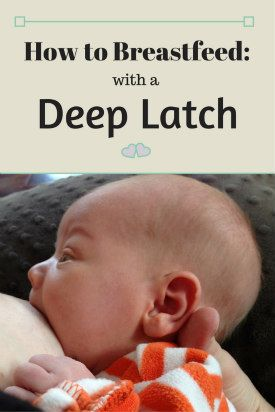 A deep latch will help prevent sore nipples and help baby to get more milk. Step-by-step instructions for breastfeeding mothers.