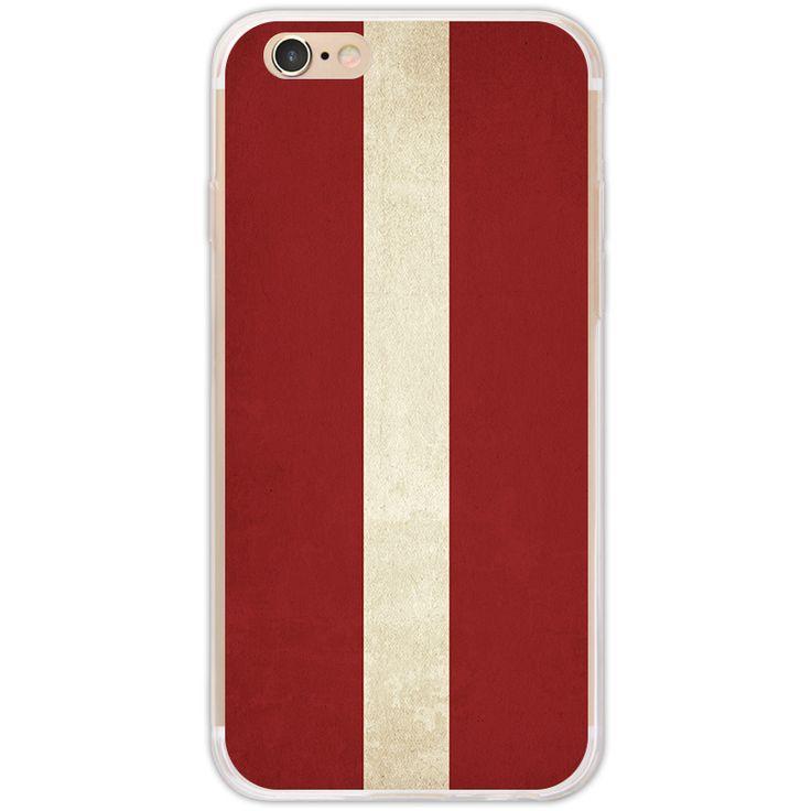Retro Latvia flag pattern for iPhone 7 case