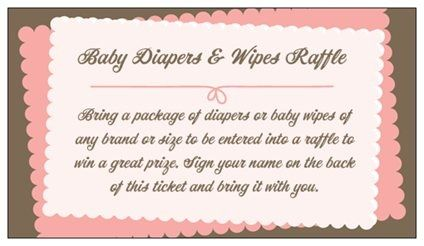 couples baby shower invitation wording DIAPER RAFFLE - Google Search