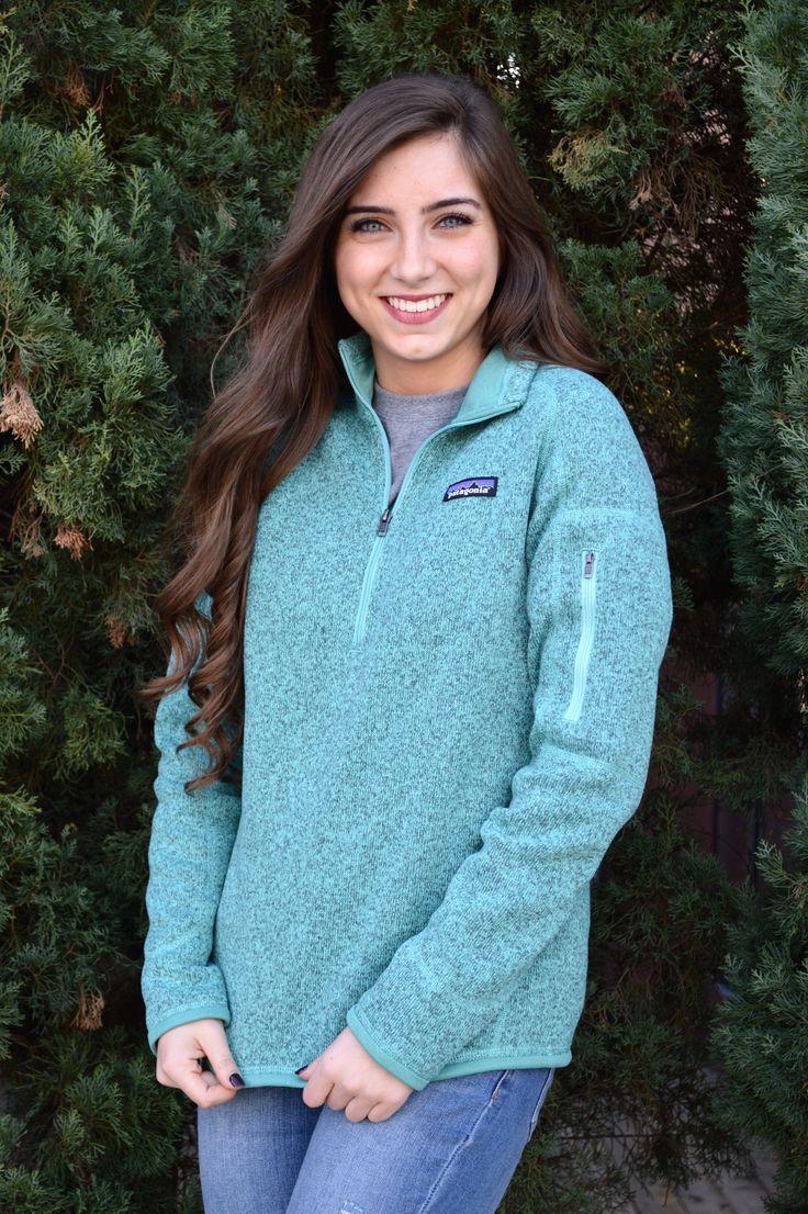 Patagonia Women's Better Sweater Quarter Zip Fleece- Beryl Green