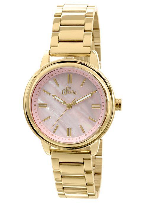 30ca97800c153 Relógio Allora Feminino Analógico Dourado AL2035EZY4Q   Relógios ...