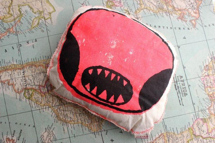 Monster Mini Travel Cushion Plush, Handmade in England