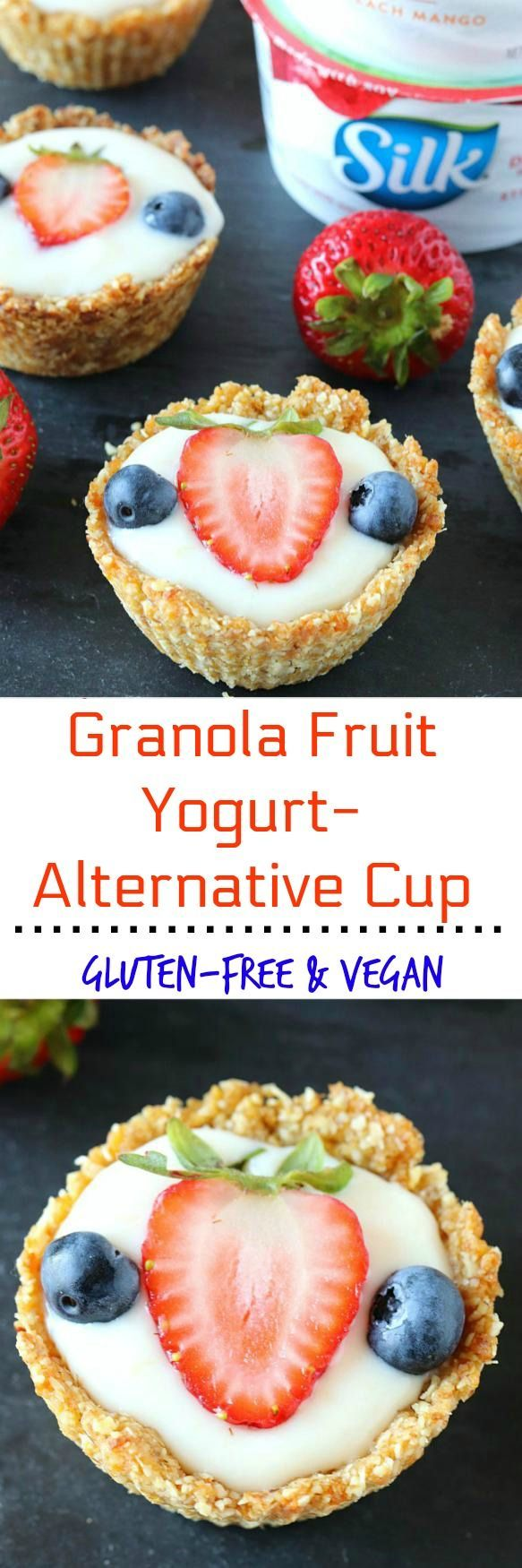 These wholesome and delicious Granola Fruit Yogurt Cup are made with 7 simple ingredients and is the perfectback-to-school recipe.Plus, they are gluten free and vegan!!