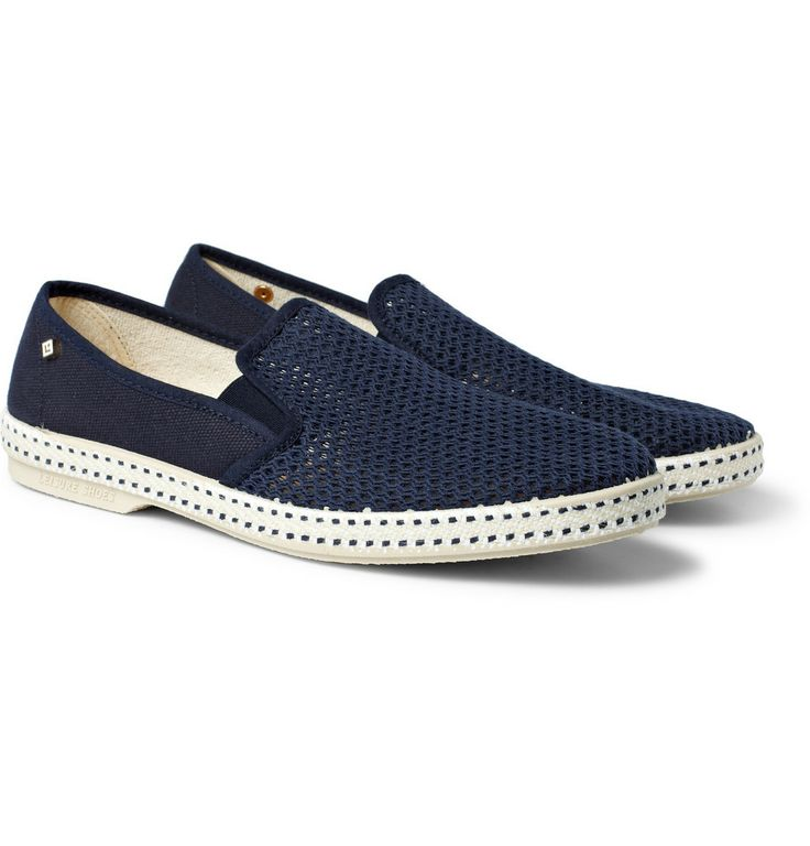 Rivieras Cotton Mesh Slip-On Shoes | MR PORTER