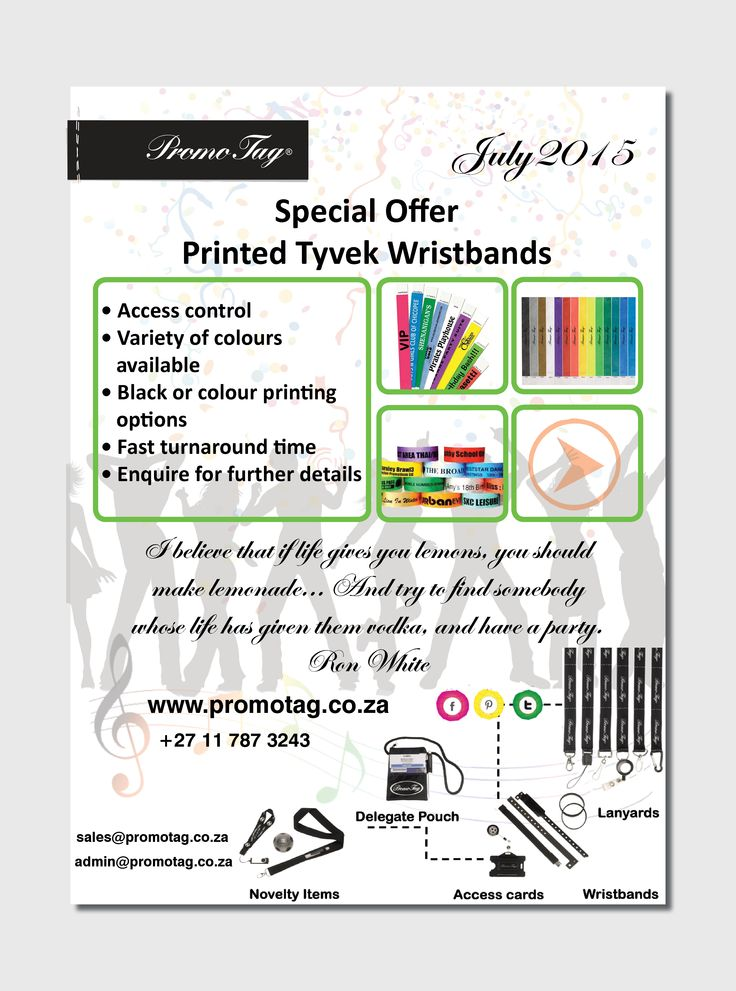 Printed tyvek wristband special