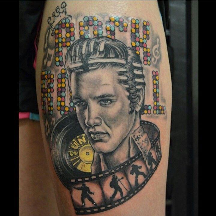 awesome elvis tattoo