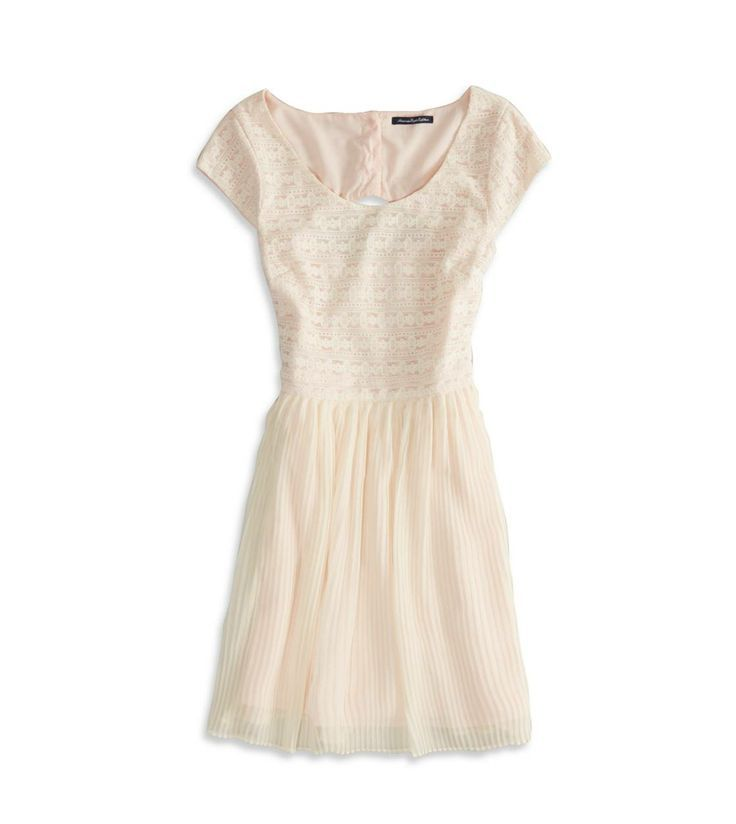love this white dress from American Eagle... Add a pair of ballet flats and the look is complete!