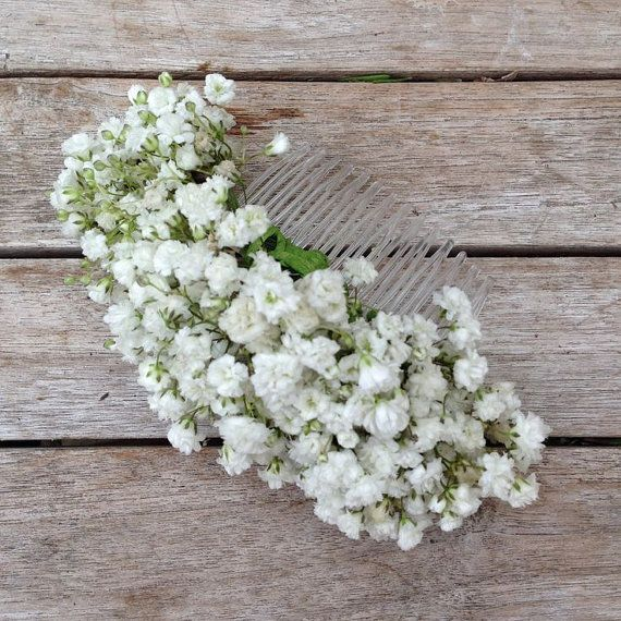 Hey, I found this really awesome Etsy listing at https://www.etsy.com/listing/294726687/fresh-cut-babys-breath-hair-comb