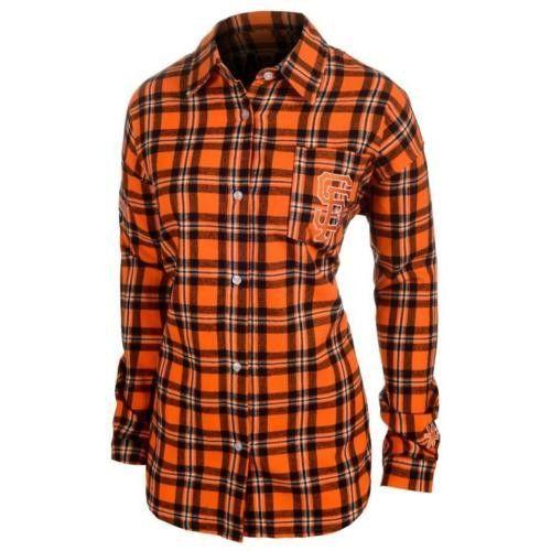#SanFrancisco Giants Wordmark #LongSleeve Flannel Women's #Shirt by Klew