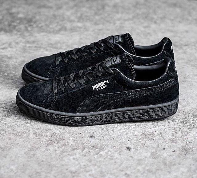 Puma Suede Black Puma Pumasuede Suedeclassic Pumaclassic Allblack Everysize Classickicks Asphaltgold Puma Schuhe Neue Sneaker