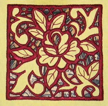 Advanced Embroidery Designs - Square Rose Lace