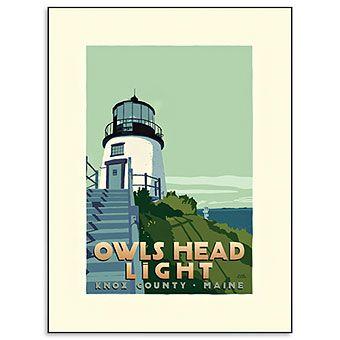 Owls Head Lighthouse Print