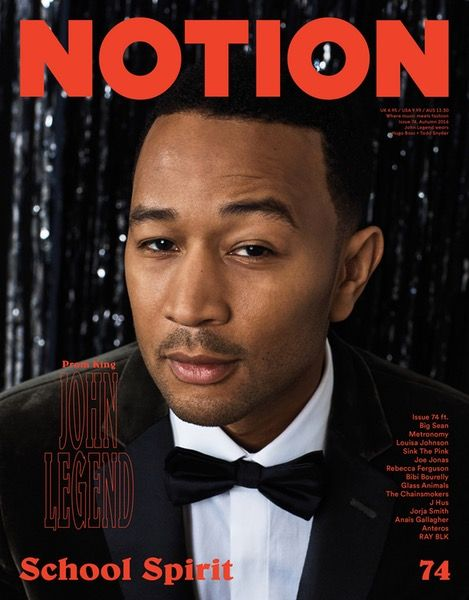 John Legend, The Prom King Cover - Notion 74 Magazine Cover. Photography: Evan Duning