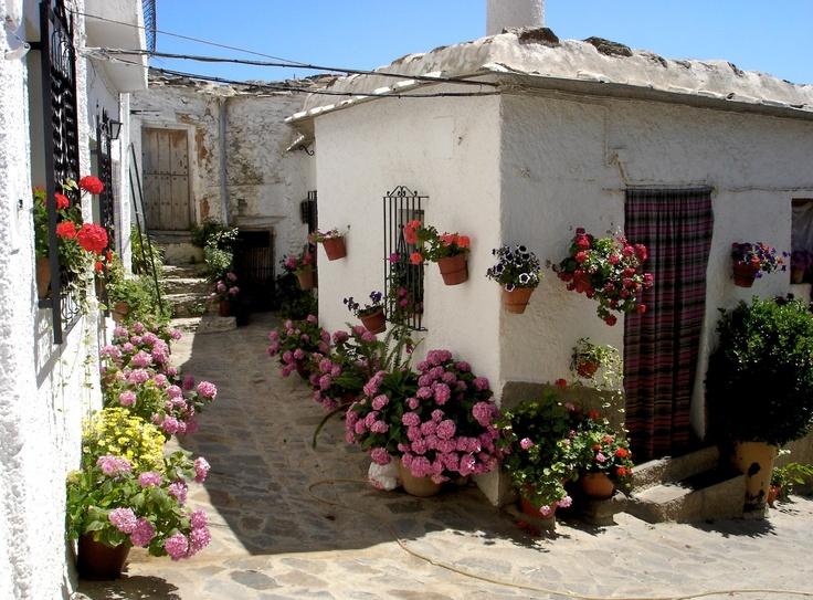 Capileira, pueblo de la Alpujarra granadina, en la ladera sur de Sierra Nevada. (vía granatensis   flickr)