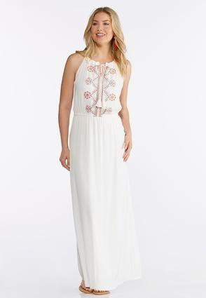 b07789cb1c7 Cato Fashions Plus Size Embroidered Halter Maxi Dress  CatoFashions ...