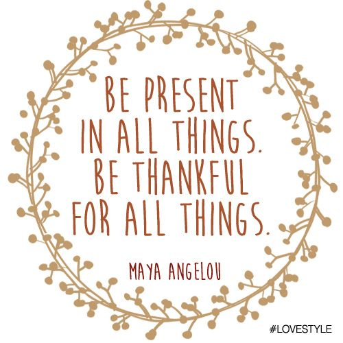 Manic Monday: Thankful by Maya Angelou #lovestyle #ManicMonday