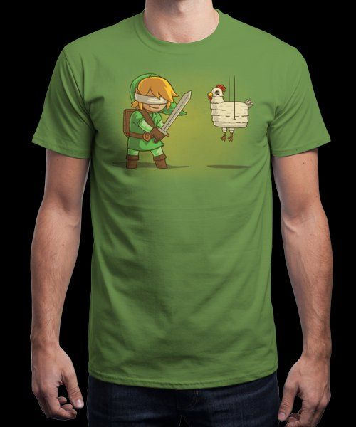 """""""Hylian Pinata"""" is today's £8/€10/$12 tee for 24 hours only on www.Qwertee.com Pin this for a chance to win a FREE TEE this weekend. Follow us on pinterest.com/qwertee for a second! Thanks:)"""