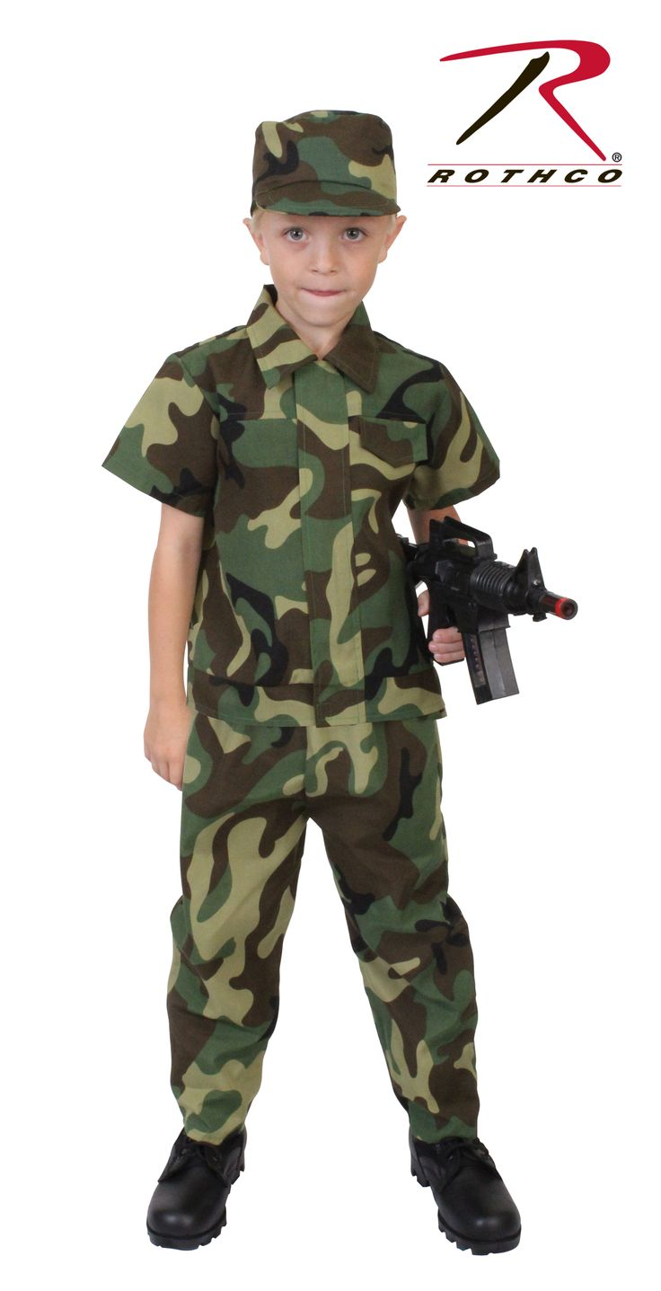 Rothco Kids Camouflage Soldier Costume Halloween