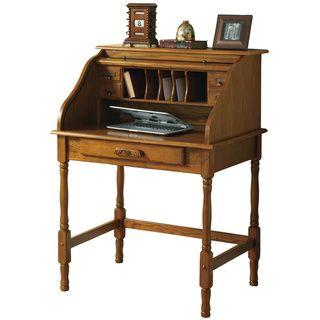 Roll-top Oak Secretary Desk - Overstock™ Shopping - Great Deals on Coaster Desks