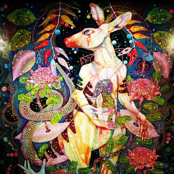 """Del Kathryn Barton at the a """"Express Yourself"""" exhibition by Romance Was Born at the #NGV"""
