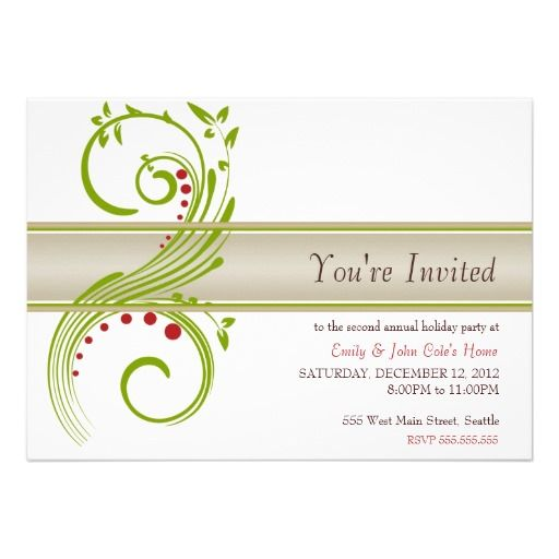 478 best images about Christmas Holiday Party Invitations on – Custom Holiday Party Invitations